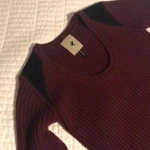 One Teaspoon chunky knit sweater - burgundy